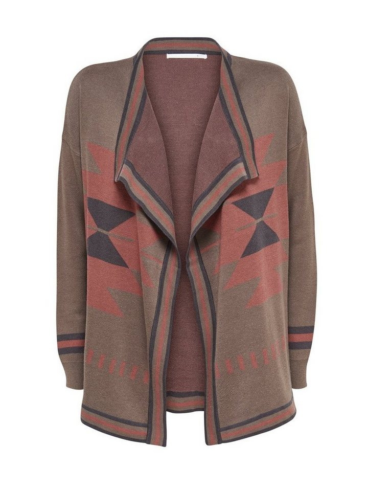 Only Drapierter Strick-Cardigan in Falcon