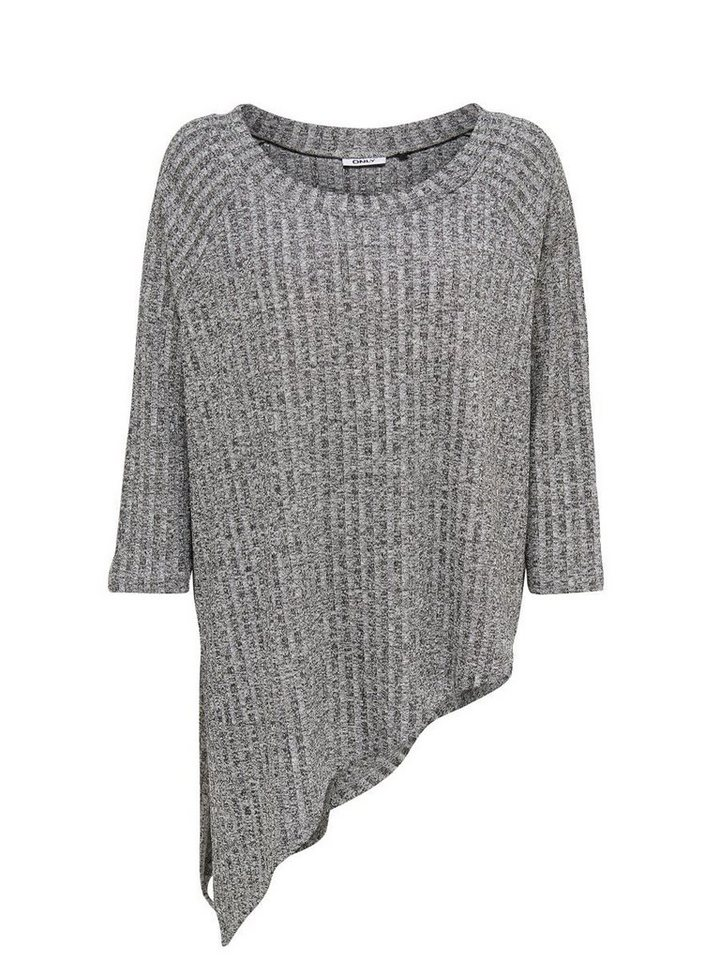 Only Asymmetrisches Strickoberteil in LIGHT GREY MELANGE