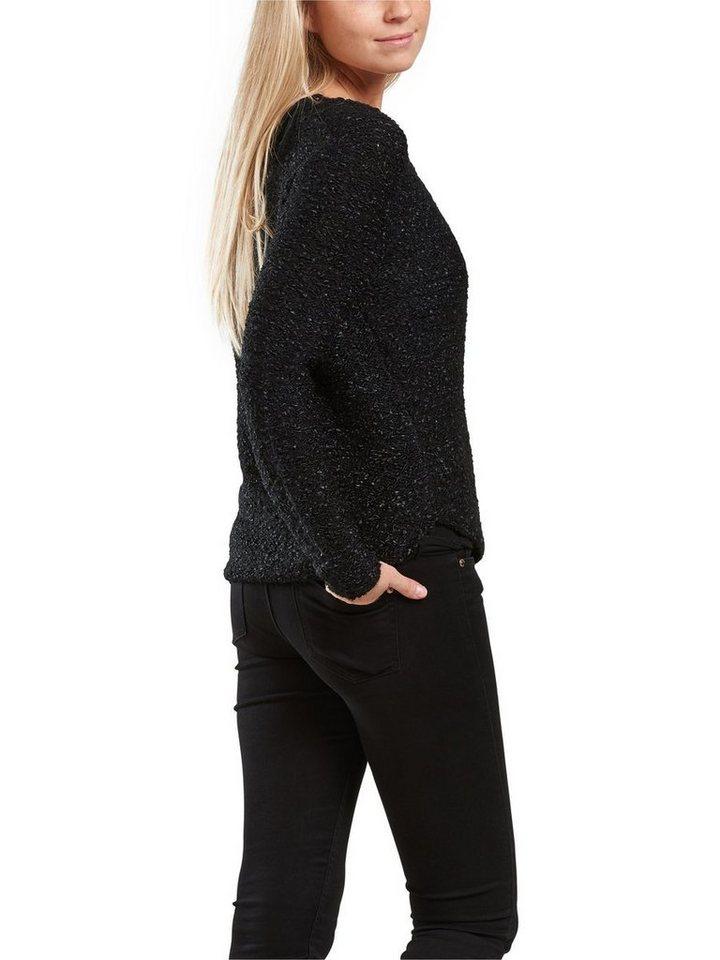 Only Einfarbig Strickpullover in Black