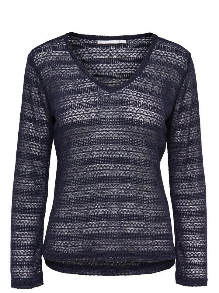 Only Detaillierter Strickpullover in Night Sky