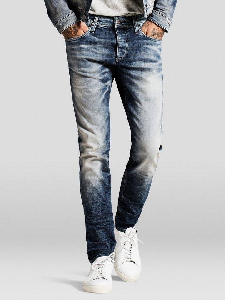 Jack & Jones Glenn Original JJ 887 Slim Fit Jeans in Blue Denim