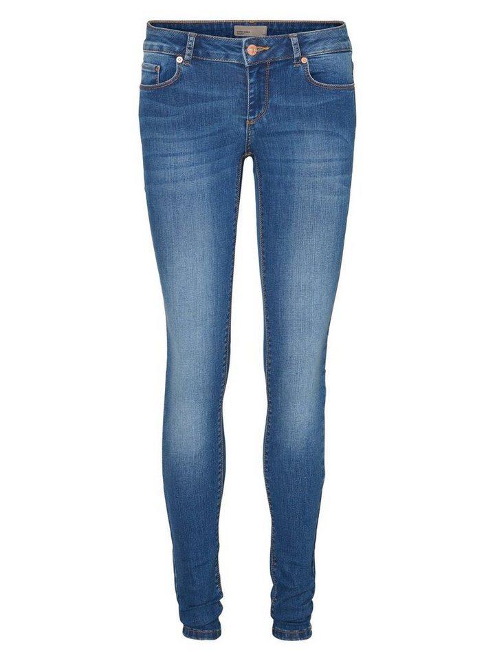 Vero Moda Fix LW Skinny Fit Jeans in Medium Blue Denim