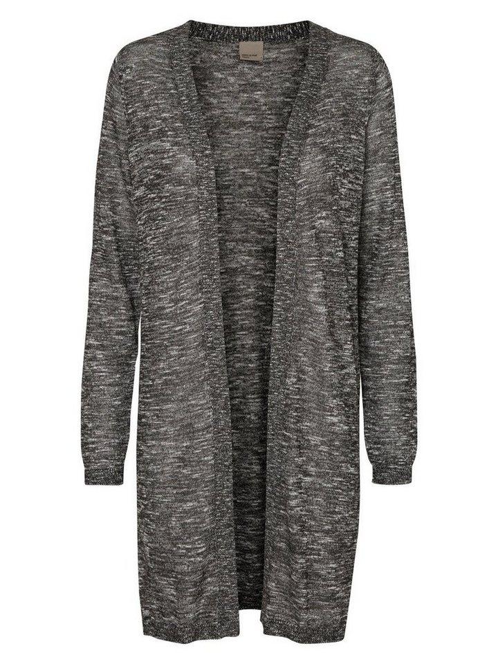 Vero Moda Lange Jersey- Strickjacke in Black