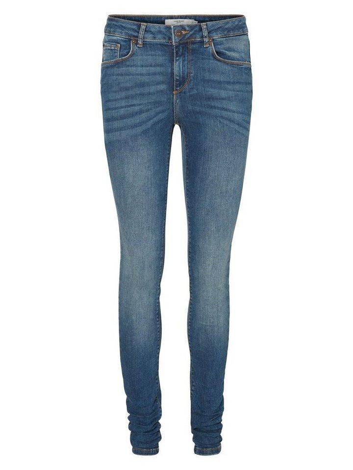 Vero Moda Lux NW Skinny Fit Jeans in Medium Blue Denim