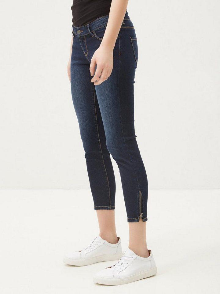 Vero Moda Five LW Ankle- Skinny Fit Jeans in Dark Blue Denim