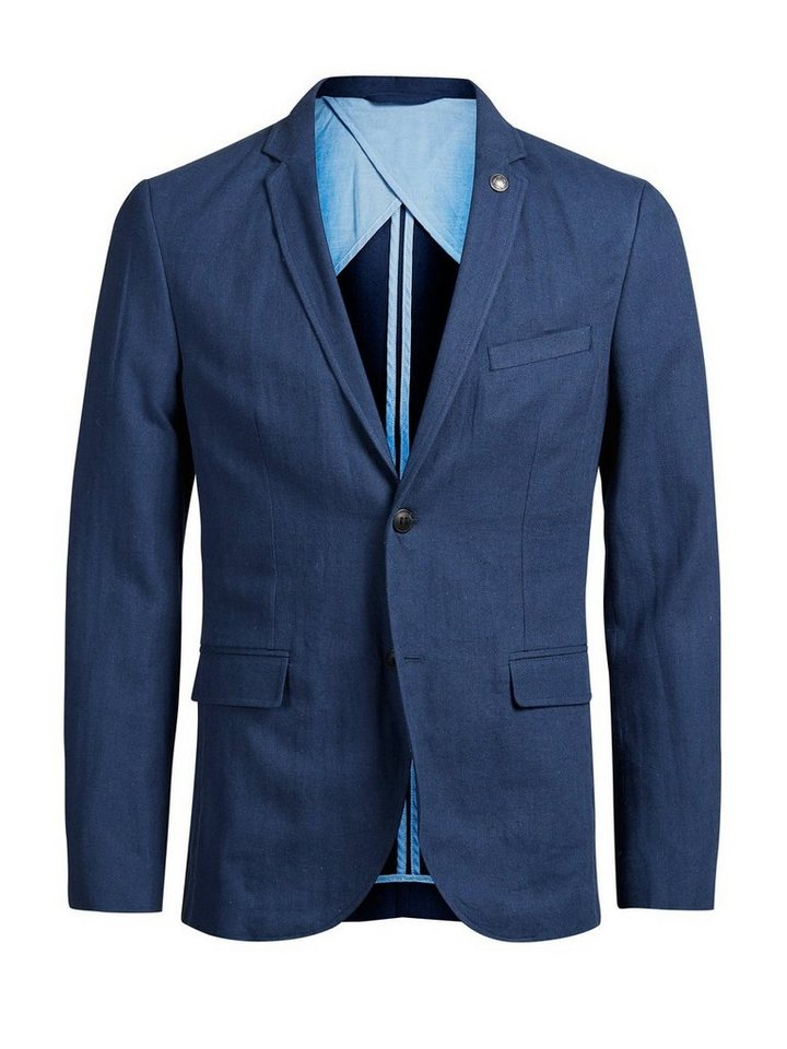 Jack & Jones Leinenmischfaser- Blazer in DARK NAVY.