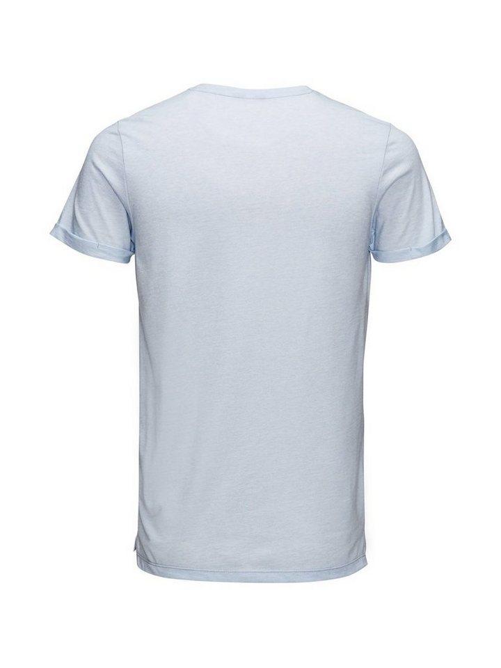 Jack & Jones Leistentaschen T-Shirt in Kentucky Blue