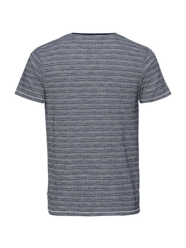 Jack & Jones Jacquardbedrucktes T-Shirt in MOOD INDIGO