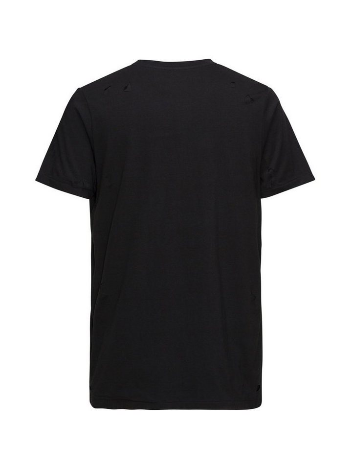 Jack & Jones Andy Tankmar Doppellagen- T-Shirt in Black