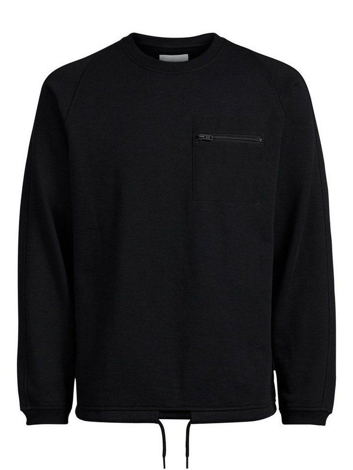 Jack & Jones Reißverschlusstaschen- Sweatshirt in Black
