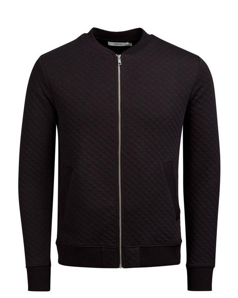 Jack & Jones Sweatshirt mit Reißverschluss in Black