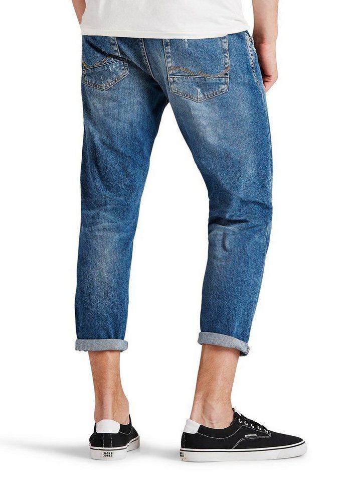 Jack & Jones Frank Cropped BL 675 Regular fit Jeans in Blue Denim