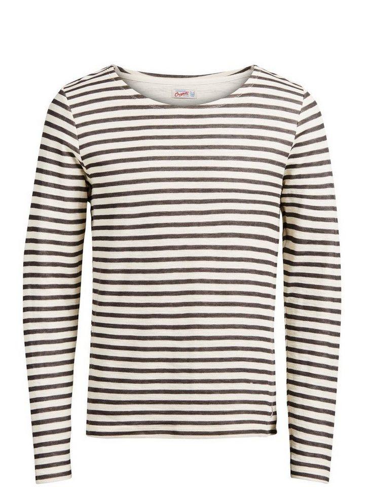 Jack & Jones Klassisch gestreiftes Sweatshirt in RAVEN