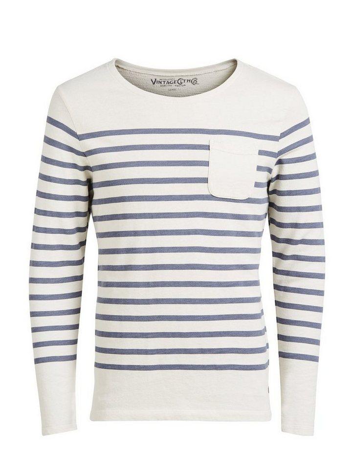 Jack & Jones Gestreiftes Sweatshirt in MOOD INDIGO