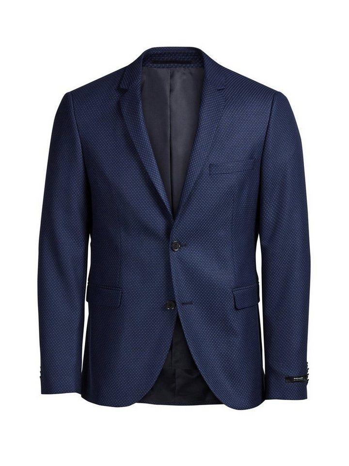 jack jones blau strukturierte anzug kaufen otto. Black Bedroom Furniture Sets. Home Design Ideas