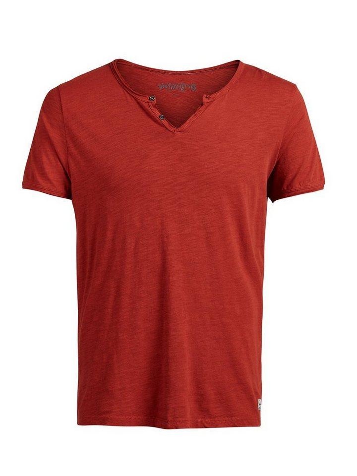 Jack & Jones Split-Neck- T-Shirt in BOSSA NOVA