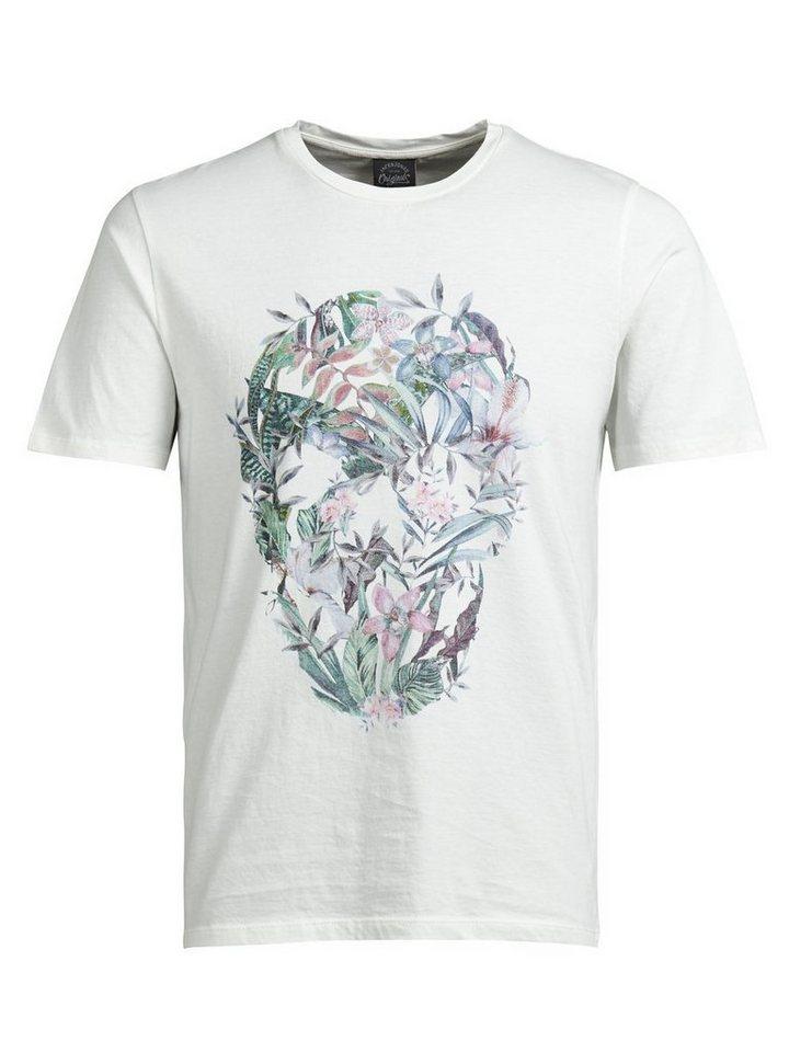 Jack & Jones Blumiges T-Shirt in CLOUD DANCER