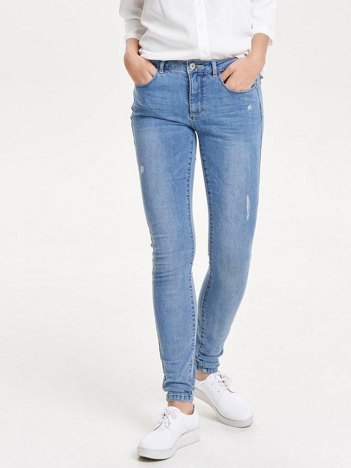 Only Ultimate reg Skinny Fit Jeans in Medium Blue Denim