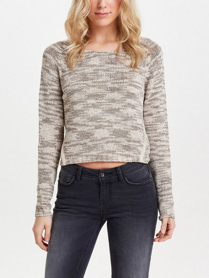 Only Detaillierter Strickpullover in Simply Taupe