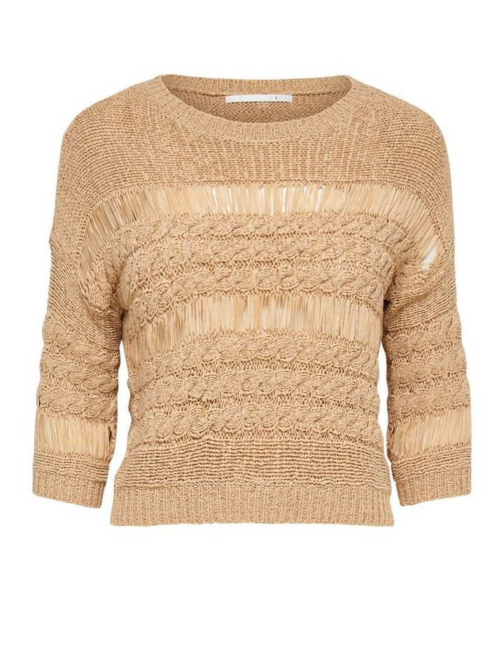 Only Kurzer Strickpullover in Warm Sand
