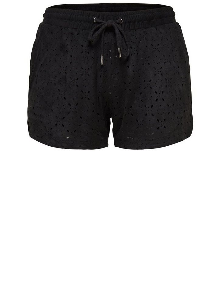 Only Wildlederlook- Shorts in Black