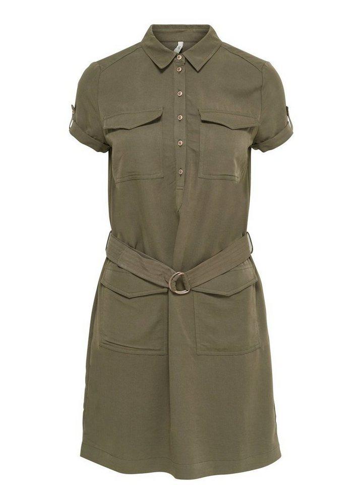 Only Cargo- Kleid mit kurzen Ärmeln in TARMAC