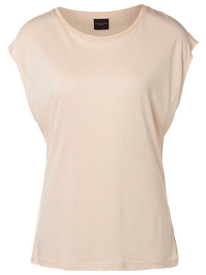selected femme viskose t shirt online kaufen otto. Black Bedroom Furniture Sets. Home Design Ideas