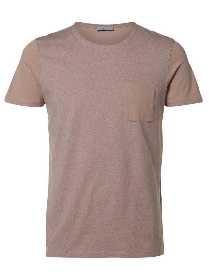 SELECTED Rundausschnitt T-Shirt in Fawn