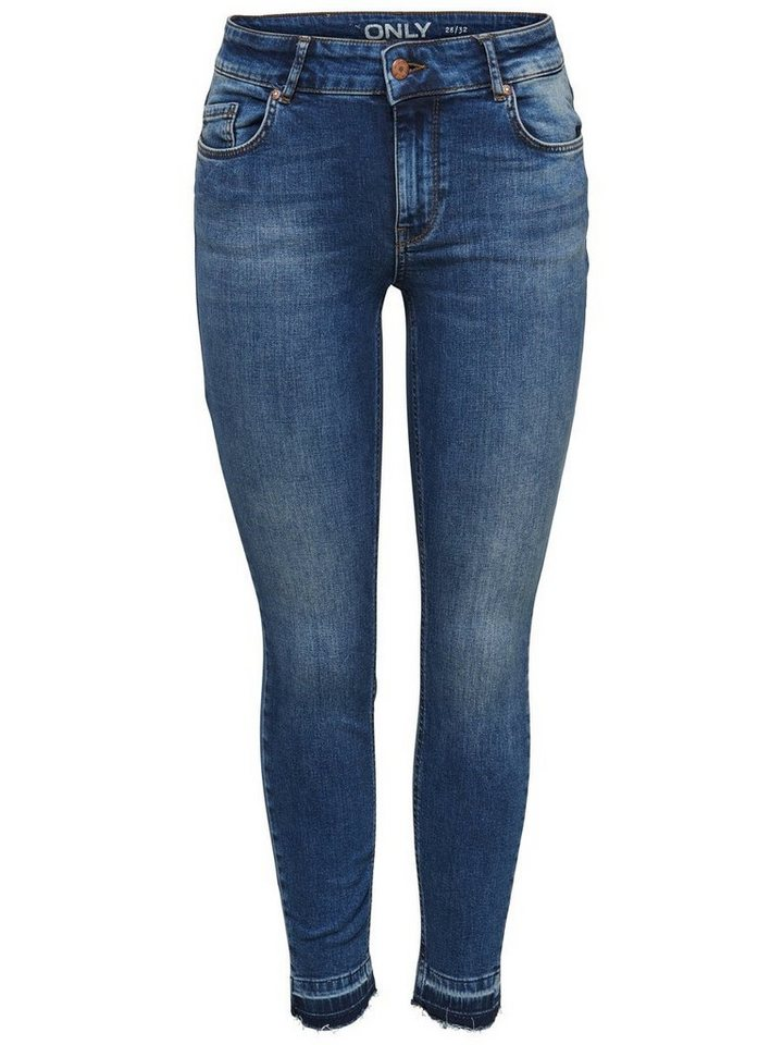 Only Carmen reg ankle Skinny Fit Jeans in Medium Blue Denim