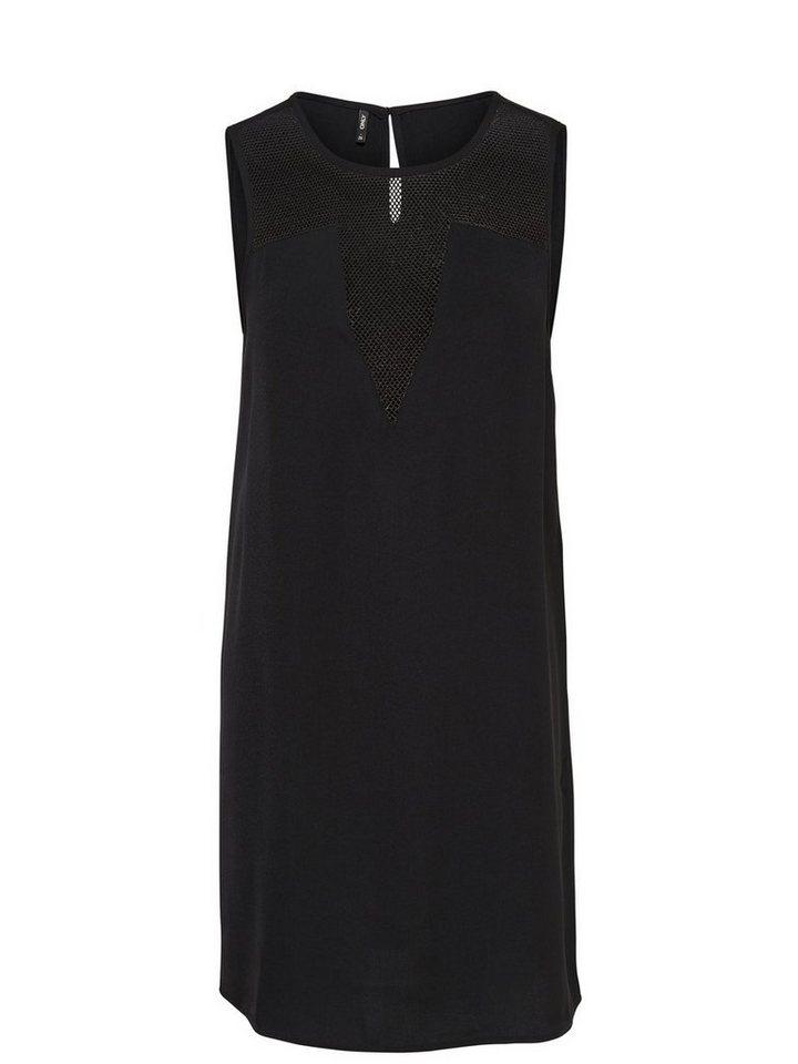 Only Mesh- Kleid ohne Ärmel in Black