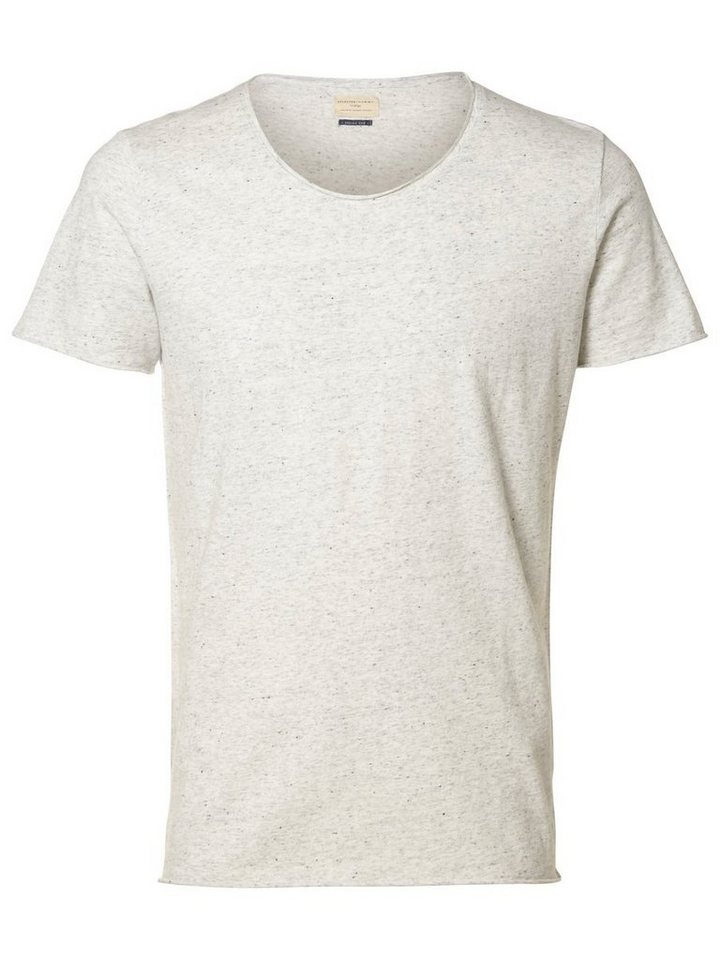 SELECTED Baumwoll- T-Shirt in Egret