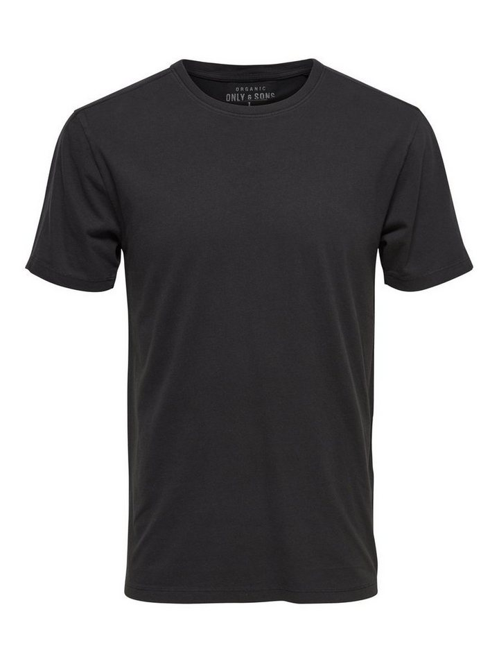 ONLY & SONS Einfarbiges T-Shirt in RAVEN