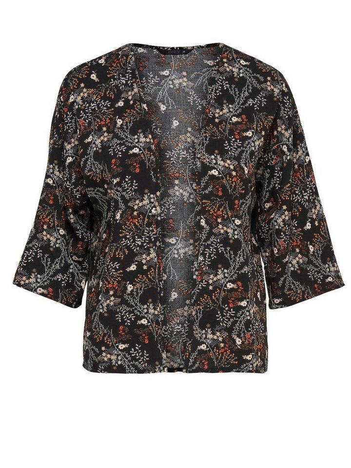Only Bedruckter Kimono in Black