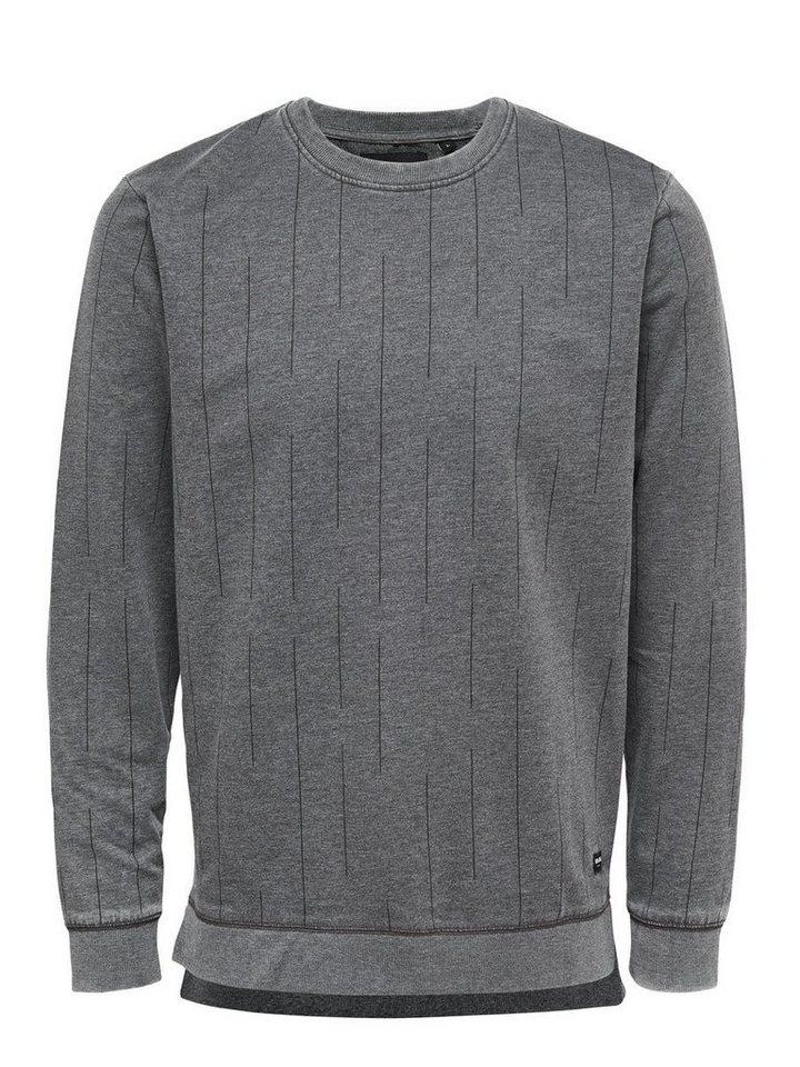 ONLY & SONS Detailliertes Sweatshirt in Black