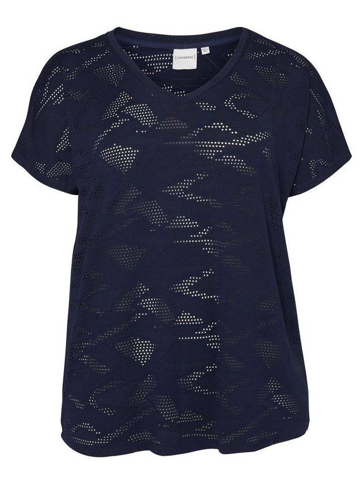JUNAROSE Jersey- Bluse ohne Ärmel in Black Iris