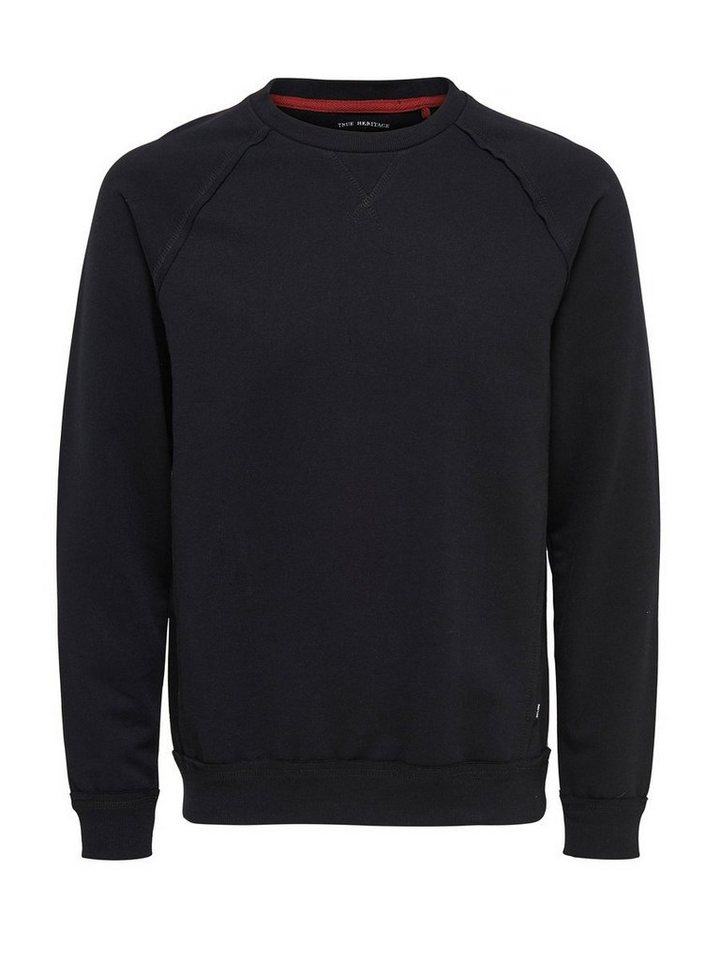 ONLY & SONS Einfarbiges Sweatshirt in Black