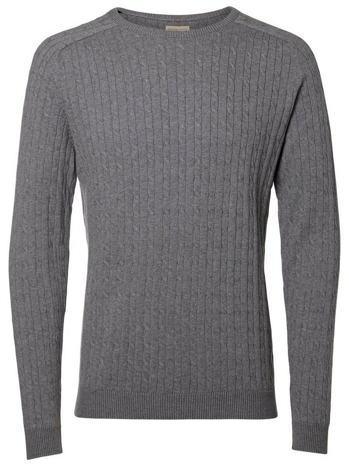 SELECTED Crew-Neck- Strickpullover in GREY MELANGE