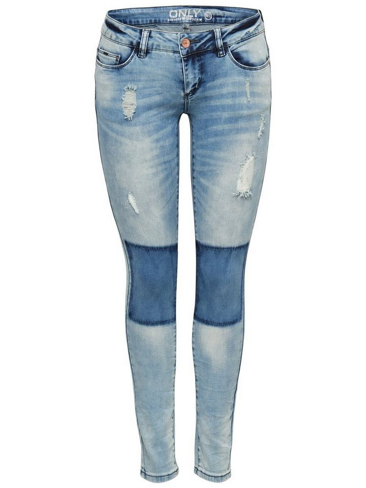 Only Coral superlow Skinny Fit Jeans in Light Blue Denim