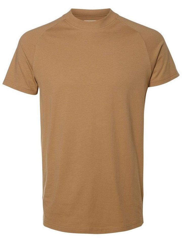 SELECTED O-Ausschnitt- T-Shirt in Tigers Eye