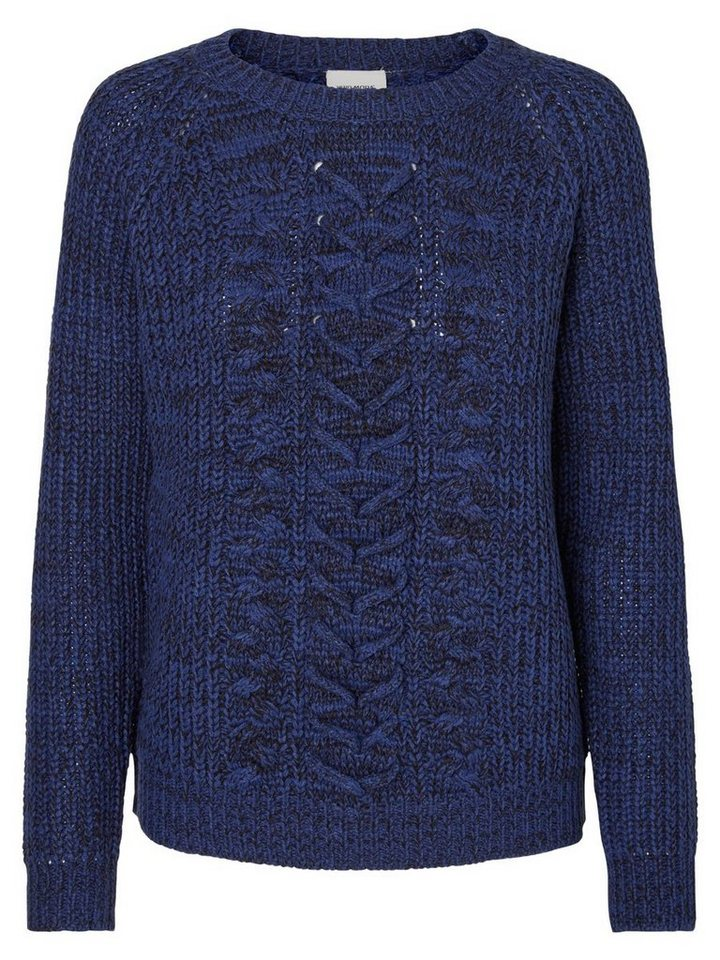Vero Moda Langärmeliger Strickpullover in Twilight Blue
