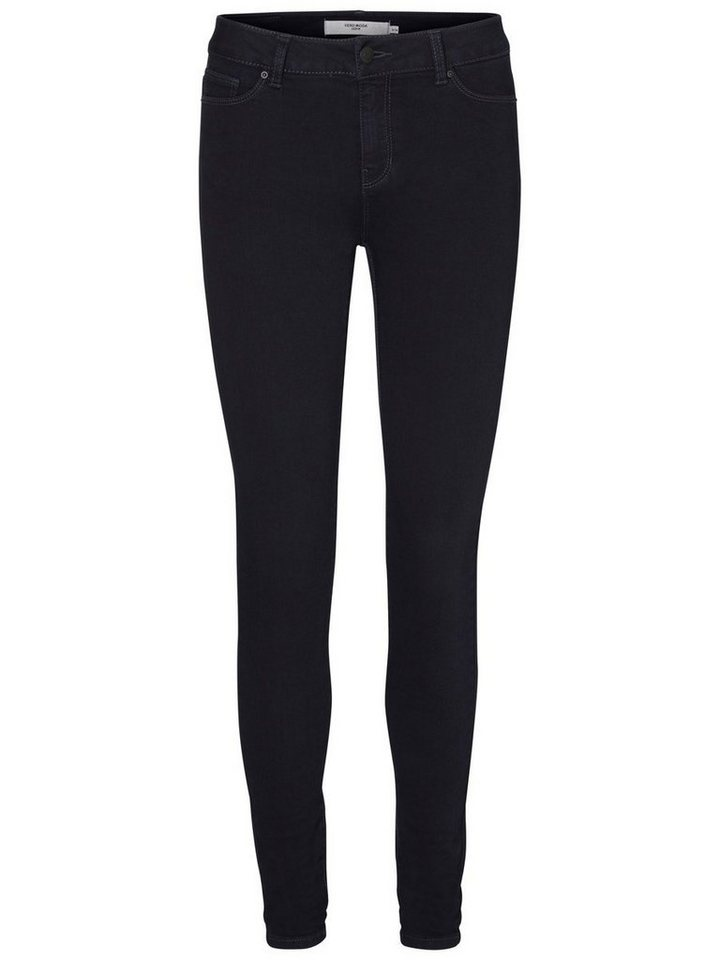 Vero Moda Seven NW Super Skinny Fit Jeans in Dark Blue Denim