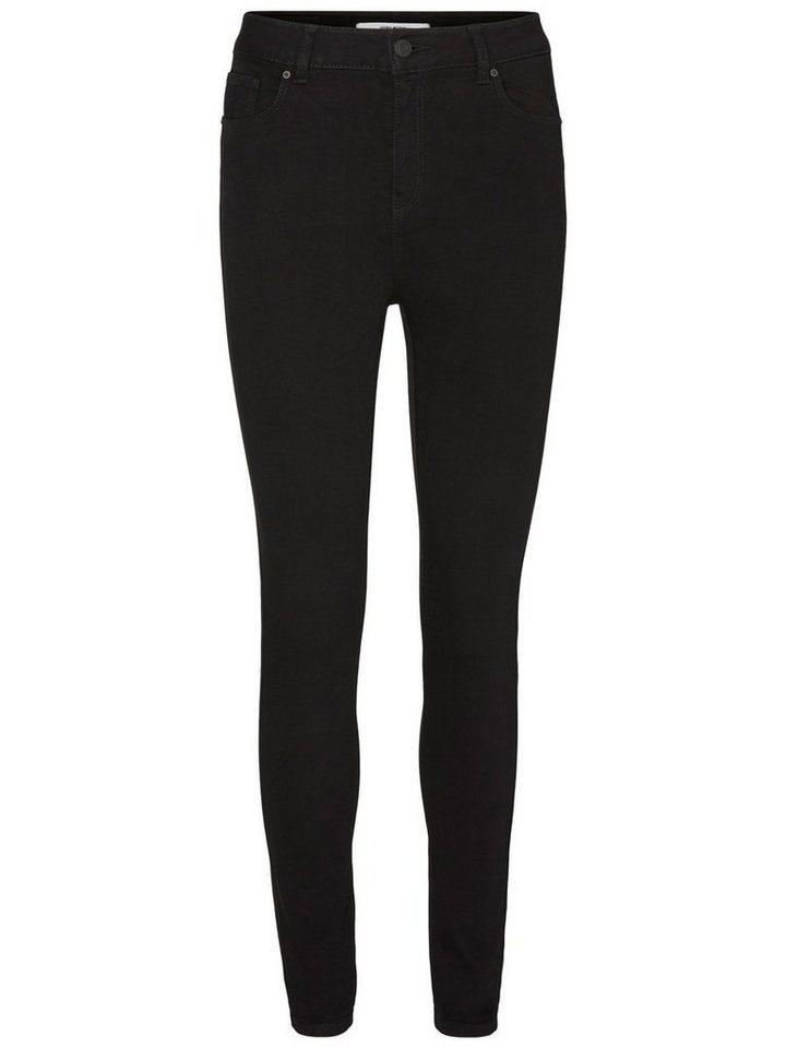 Vero Moda Nine HW Super Skinny Fit Jeans in Black