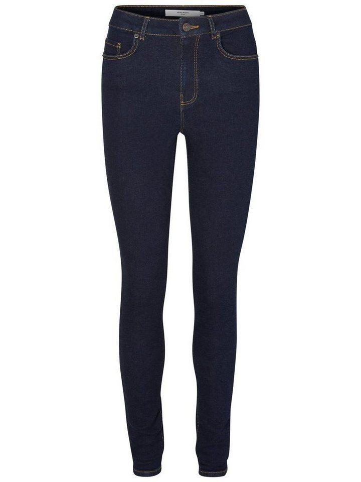 Vero Moda Nine HW Skinny Fit Jeans in Dark Blue Denim