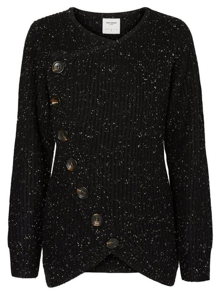 Vero Moda Knopf- Strickpullover in Black