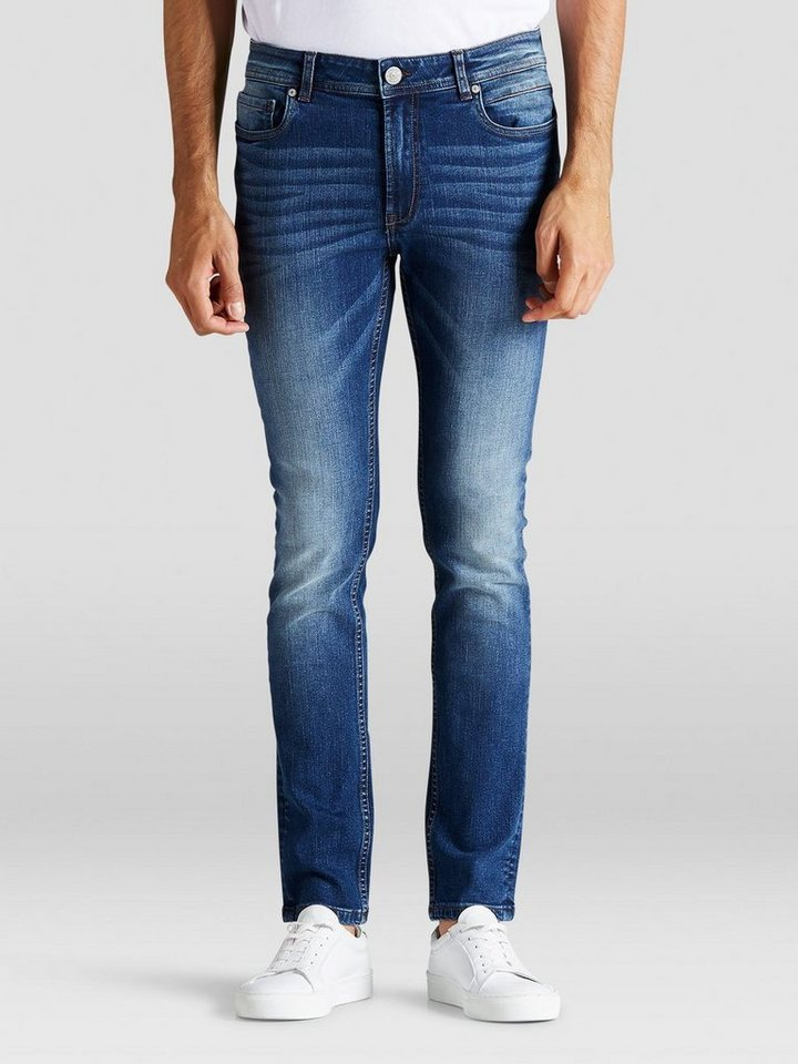 PRODUKT Funktionelle Skinny Fit Jeans in Medium Blue Denim
