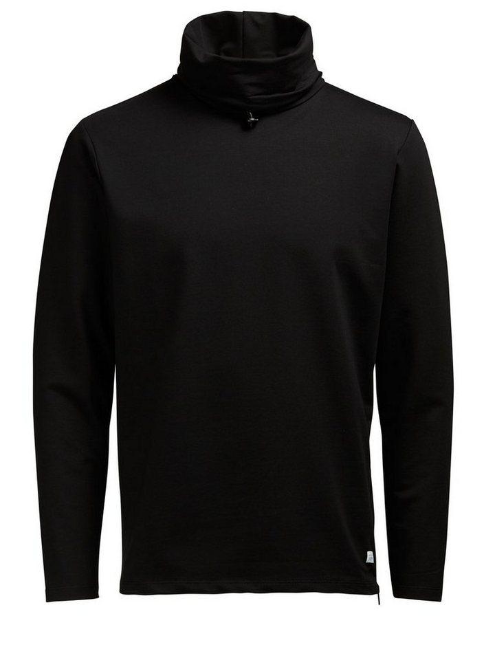 Jack & Jones High-Neck- Sweatshirt in Black