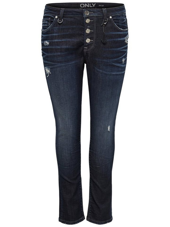 Only Tyler girlfriend Skinny Fit Jeans in Dark Blue Denim