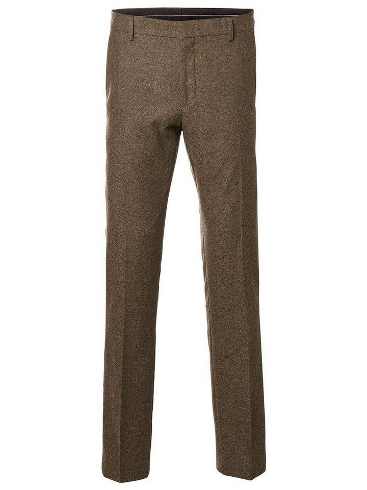 SELECTED Slim-Fit- Anzughose in BROWN SUGAR