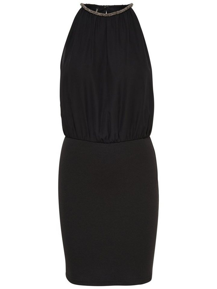 Only Detailliertes Kleid ohne Ärmel in Black