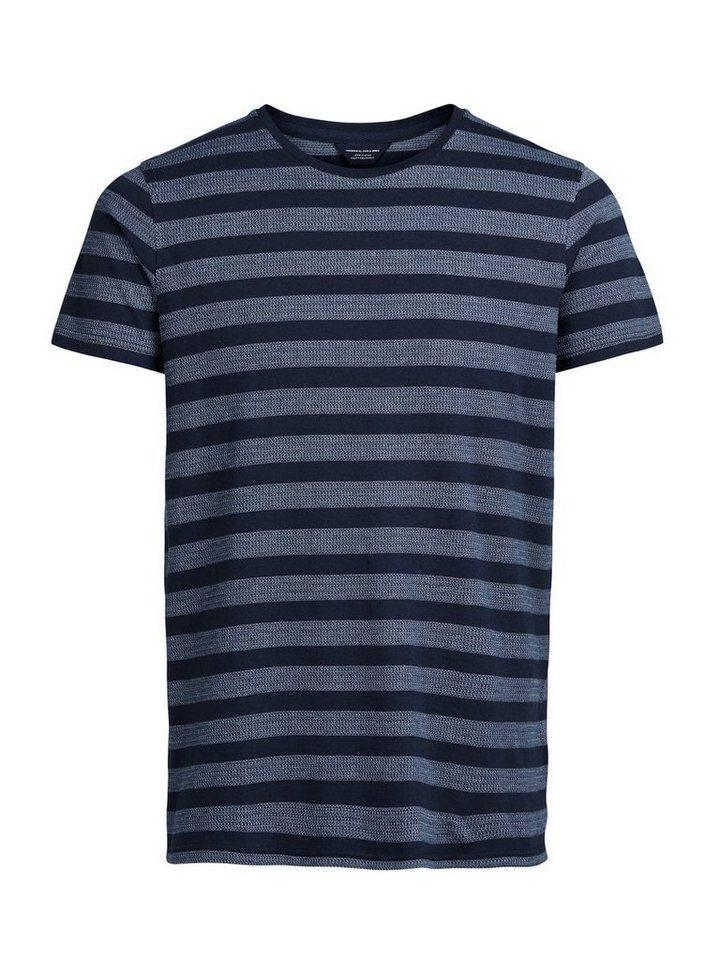 Jack & Jones Gestreiftes Slim fit T-Shirt in Navy Blazer